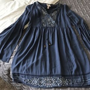 Embroidered Bell Sleeve Tunic/Dress